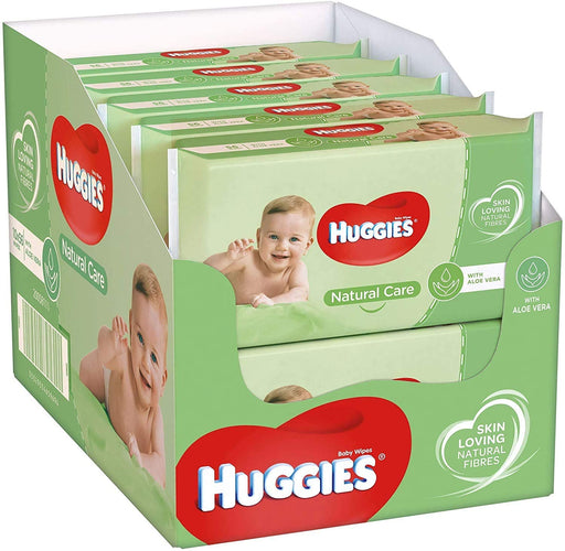 Huggies Natural Care Baby Fresh Wipes with Aloe Vera, 56 Count, (Case of 10), Total 560 Wipes by Huggies (made in the Britain)