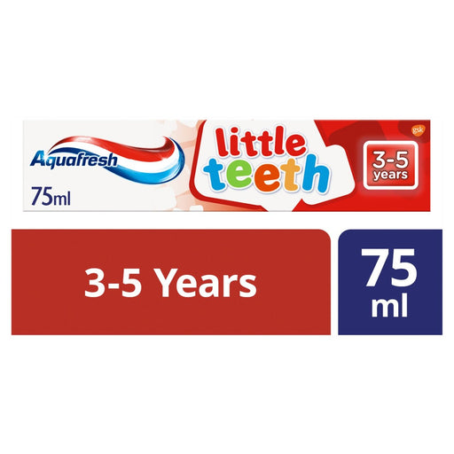 Aquafresh Kids Toothpaste Little Teeth 3-5 Years 75ml (Made in Britain).