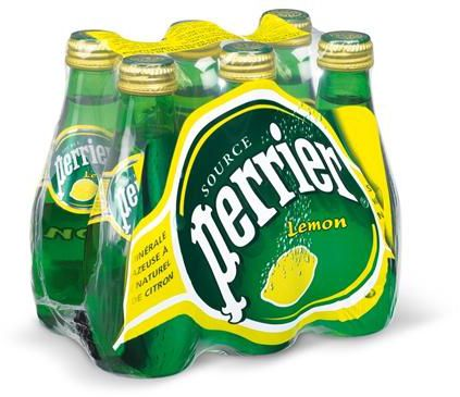 Perrier Sparkling Lemon Natural Mineral Water 6 x 200ml