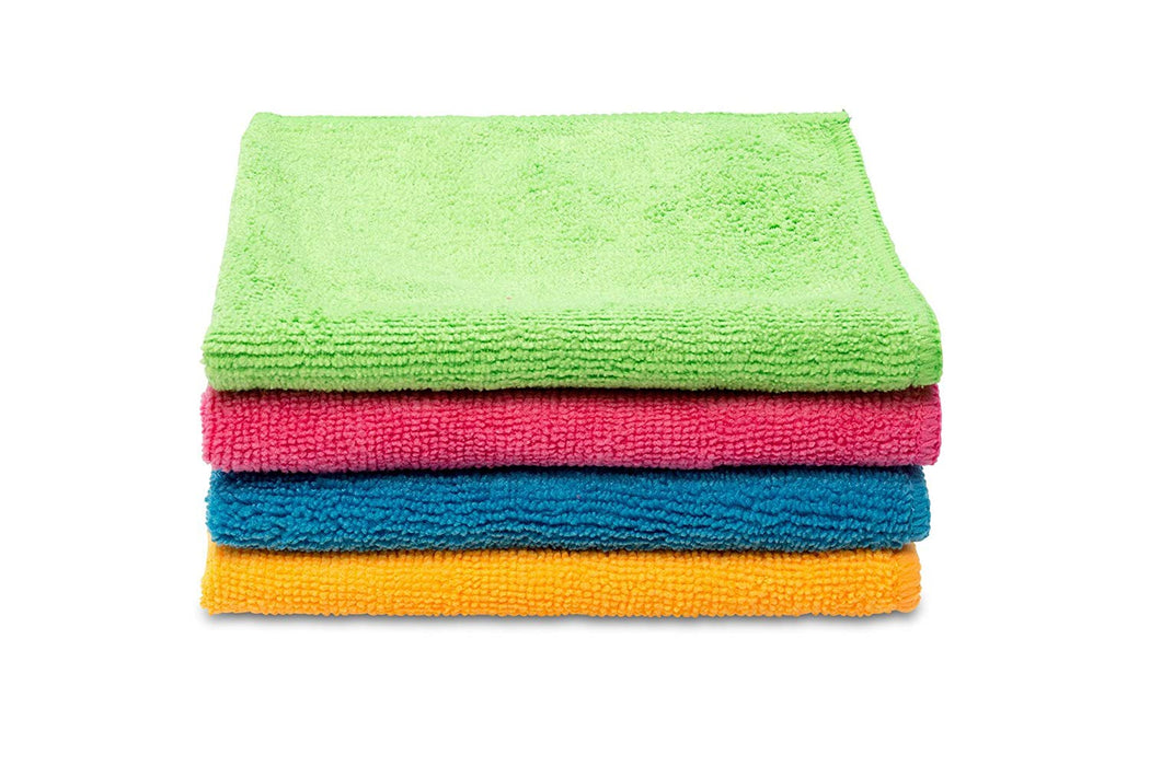 Vileda Style Microfiber Cloth All Purpose Multi Color Cleaning Cloth 4pcs - Talabac