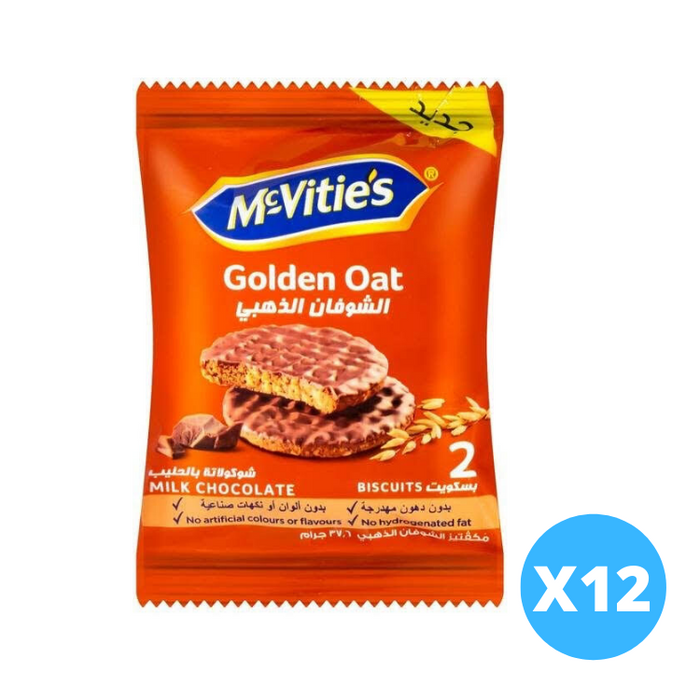 McVities Oat Biscuits With Chocolate X 12 - Talabac