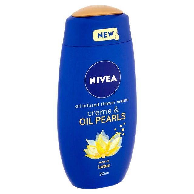 NIVEA Shower Cream Gel Creme & Oil Pearls Lotus 250ml (made in Germany)