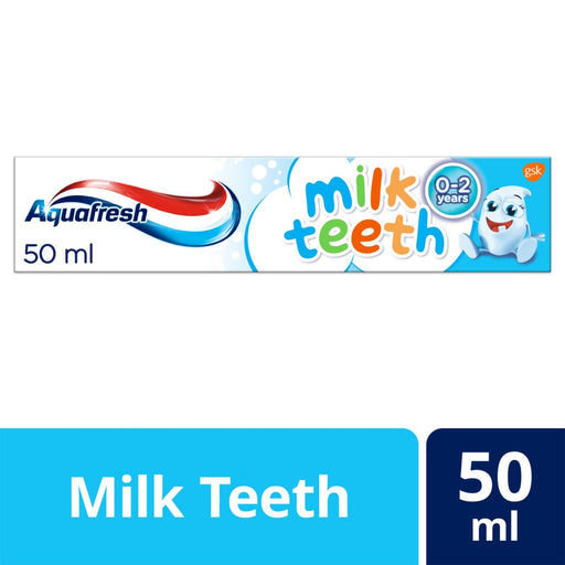 Aquafresh Milk Teeth 0-2 Years Kids Toothpaste 50ml (Made in Britain).