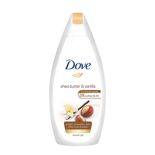Dove Purely Pampering Shea Butter & Vanilla 500ml (Made in Britain).