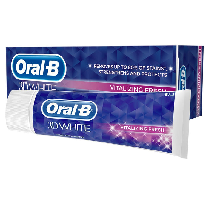 Oral-B 3D White Vitalizing Fresh Mint Toothpaste Whitening - 75ml (Made in Germany).