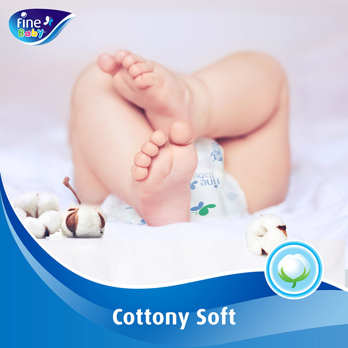 Fine Baby Diapers Mother's Touch Lotion Size 2 Small 3-6kg Ecnonomy Pack 60 Count