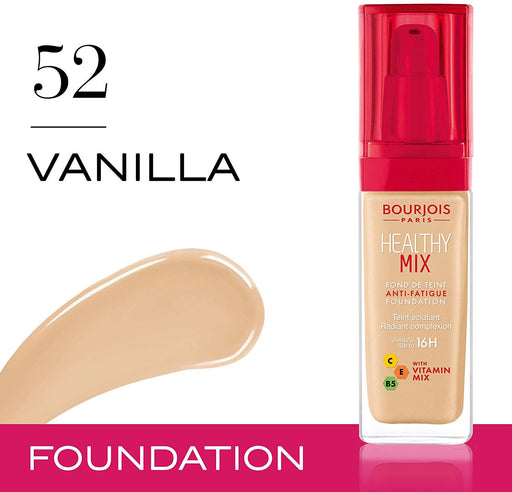 Bourjois Healthy Mix Foundation No.52 Vanilla 30ml (Made in France). - Talabac