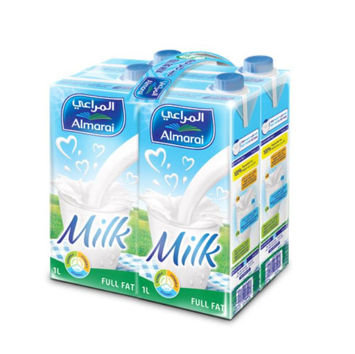 Almarai UHT Milk Full Fat Vit 1L (X 4)
