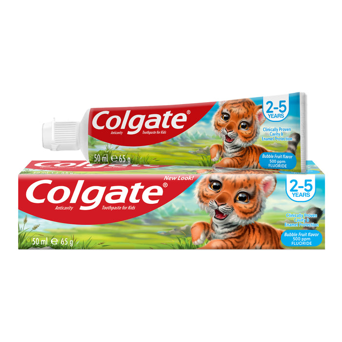 Colgate Toothpaste Anticavity For Kids 2-5 Years Bubble Fruit 65g