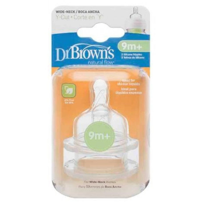 Dr. Browns ® Nipples (Wide Neck) Y-Cut - Talabac
