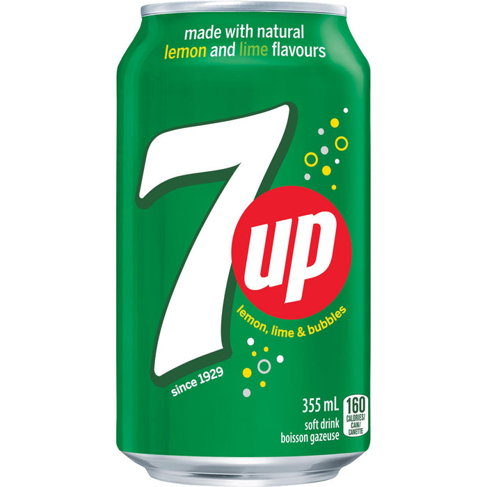7UP Soft Drink 355 mL Cans, 24 Pack