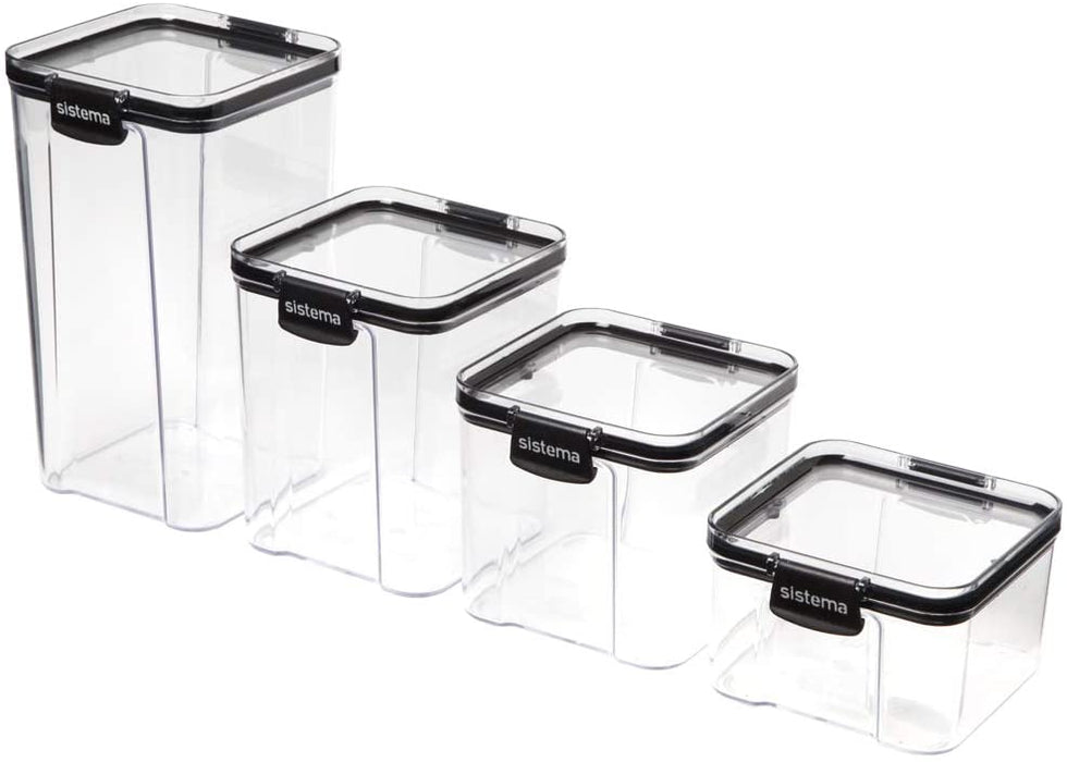 Sistema Ultra Square Canister, Tritan, Clear Black, 460 ml