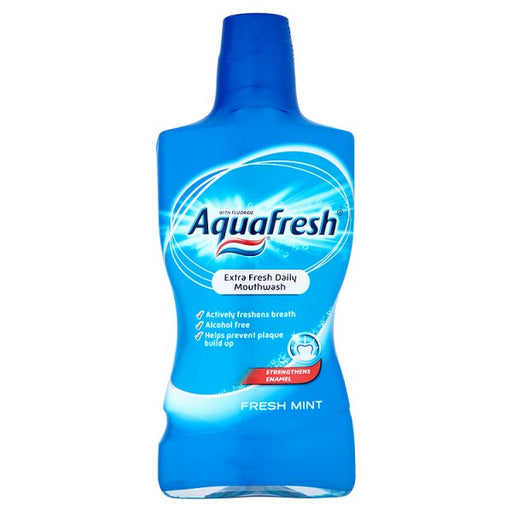 Aquafresh Fresh & Minty Mouthwash 500ML (Made in Britain).