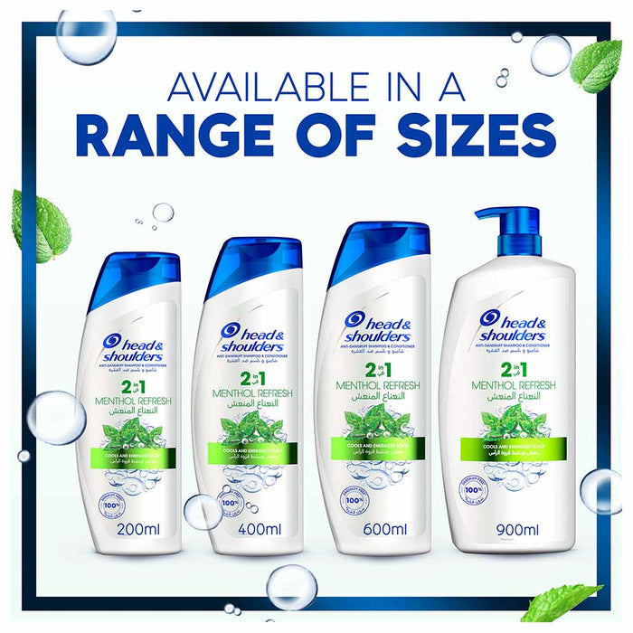 Head & Shoulders Menthol Refresh Anti Dandruff Shampoo 900ml