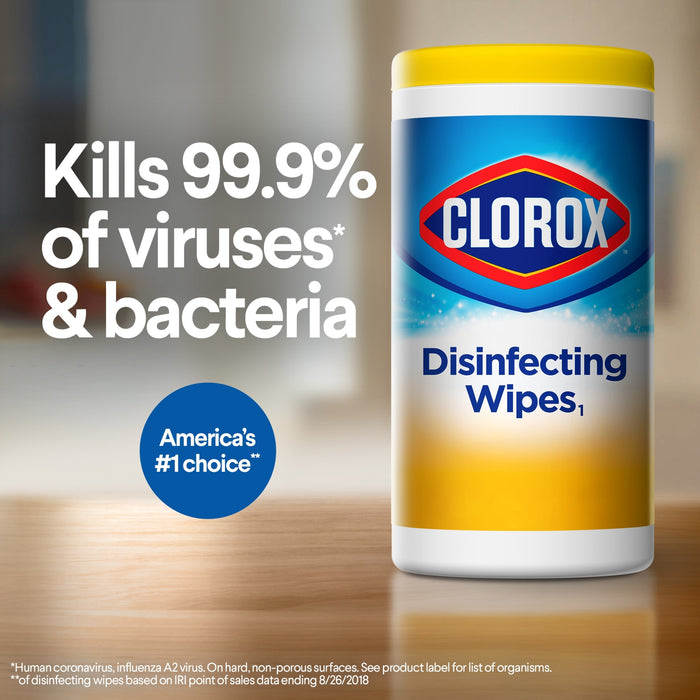 Clorox Disinfecting Wipes Canister Fresh Scent, 2 pcs 70 sheets