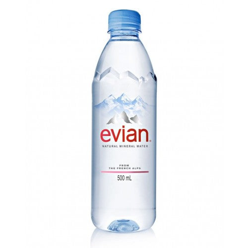 Evian Still Mineral Water 24 x 500ml