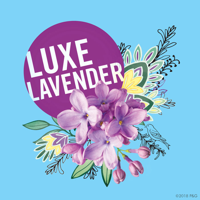 Secret Luxe Lavender Clean Scent Women's Deodorant 73g (Made in USA).