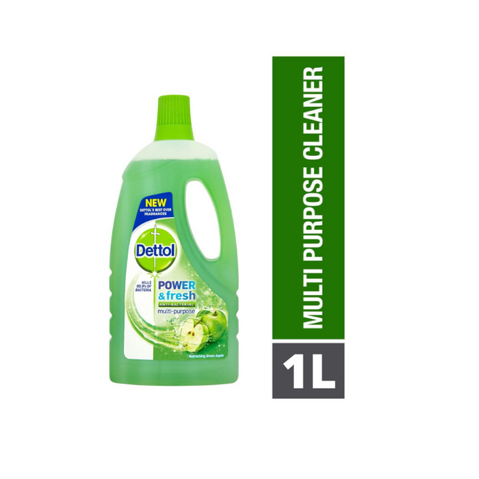 Dettol Power & Fresh Multi-Purpose Cleaner Apple 1L (Made in Britain)