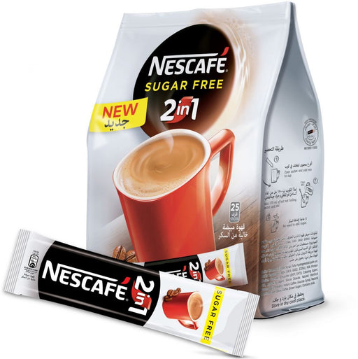 Nescafe 2in1 Sugar Free Instant Coffee, 11.7 gm x 25