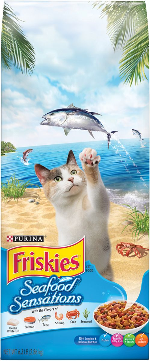 Purina Friskies 1.42 Kg Seafood Sensations Cat Dry Food - Talabac