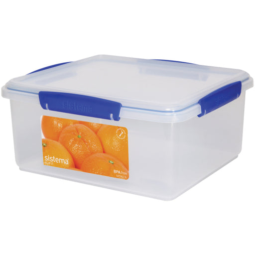 Sistema Klip It Rectangular Plastic Container, Blue 5L - Talabac