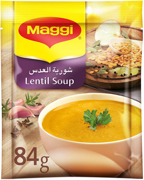 Maggi Lentils Soup 84g, Box of 2 Pieces (2 x 84g) - Talabac