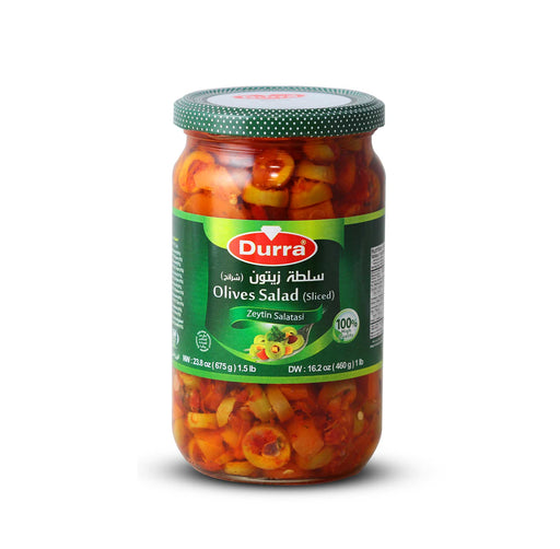 Durra OLIVES SALAD GLASS JAR 675G