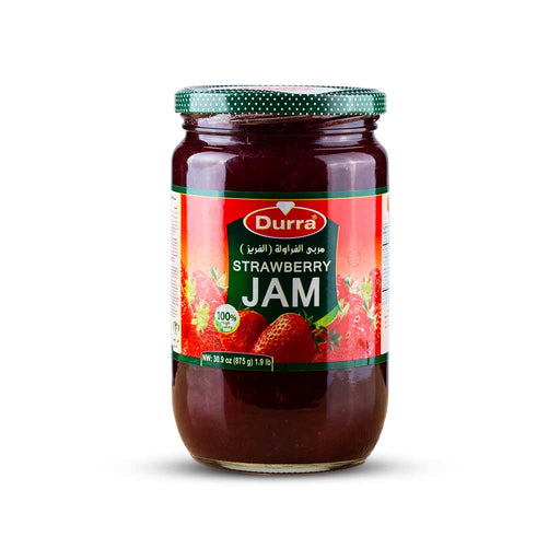 Durra STRAWBERRY JAM GLASS JAR 875G