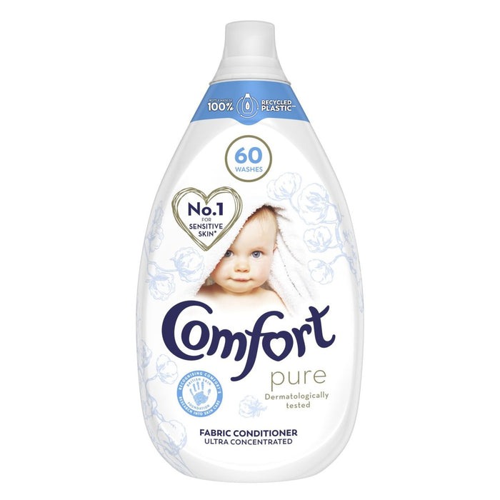 Comfort Pure 60 Wash sensitive skin Concentrated Fabric Conditioner 900ml