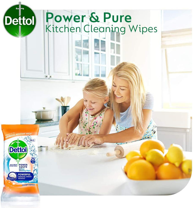 Dettol Power and Pure Advance Wipes, 30 wipes (Made in Britain).
