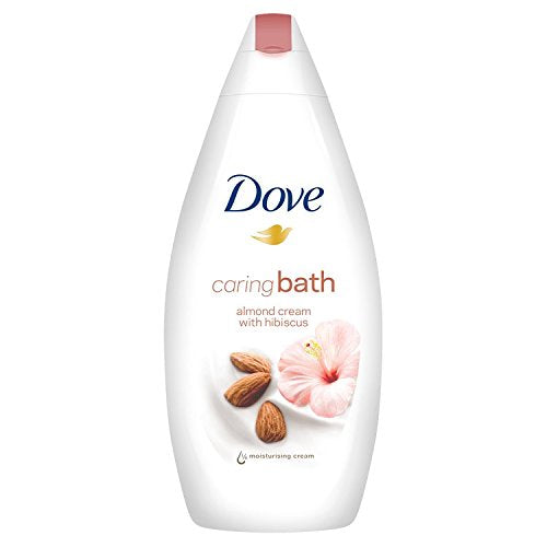 Dove caring bath almond cream with hibiscus Body Wash 500ml (Made in Britain)