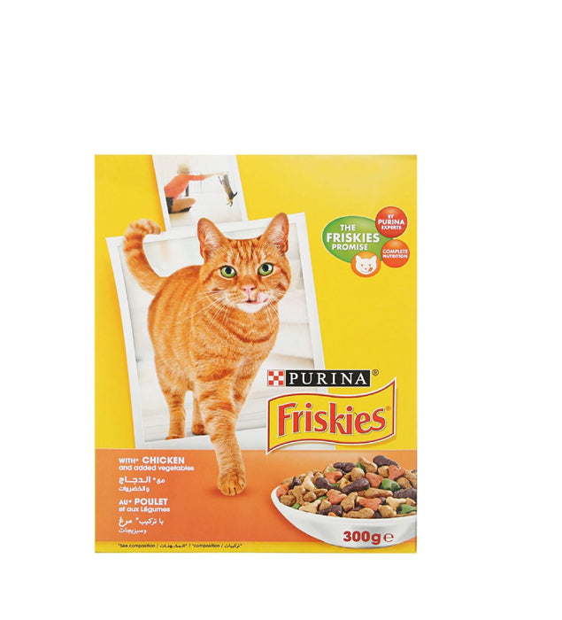 Purina Friskies Junior with Chicken, and Vegetables Dry Cat Food 300g