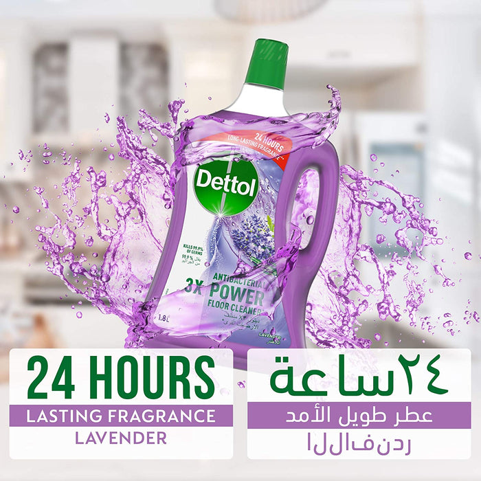Dettol Lavender Antibacterial Power Floor Cleaner 1.8L