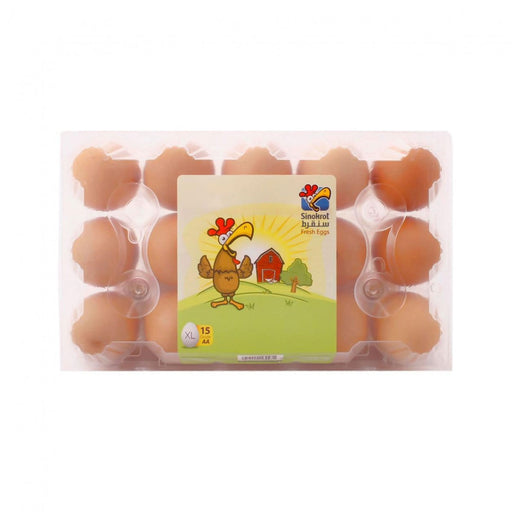 Sinokrot Large Brown Eggs - 15 per pack - Talabac
