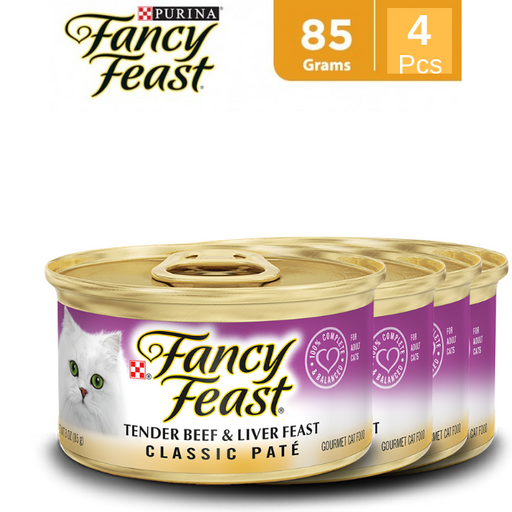 Purina® Fancy Feast Classic Tender Beef & Liver Feast Wet Cat Food - 4 pcs - Talabac