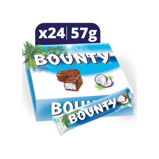 Bounty Chocolate Bars, 55g x 24 pieces