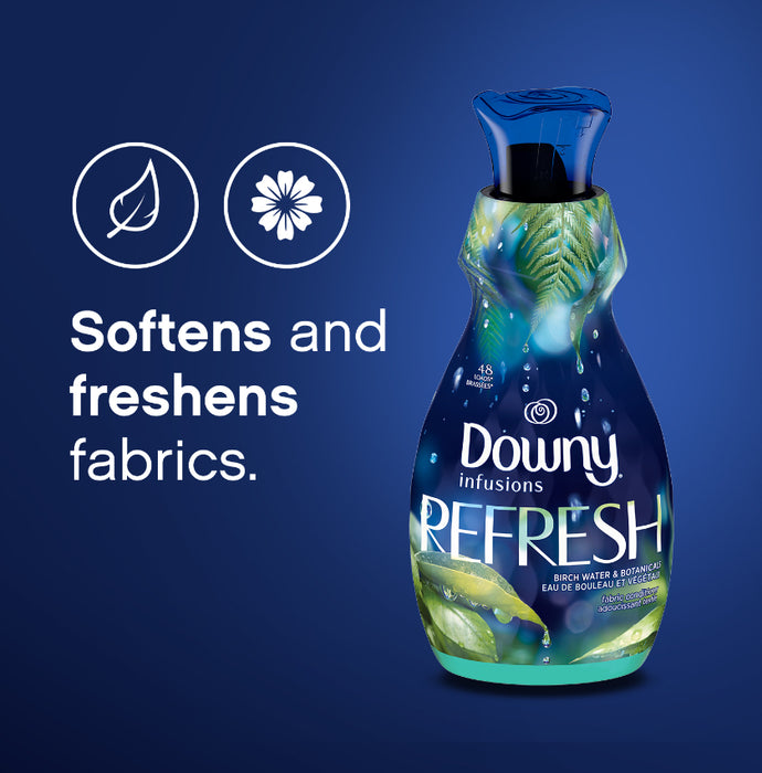Downy Infusions Liquid Fabric Softener, Refresh, Birch Water & Botonicals, 945 ml