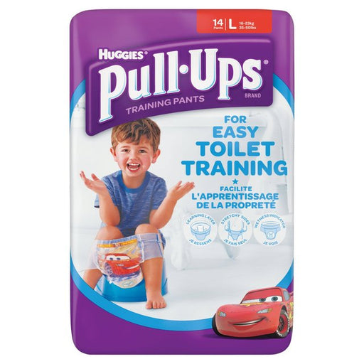 Huggies Pull-Ups Boys Large 12 per pack (made in Britain)