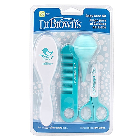 Dr. Browns grooming kit - 4 Piece Baby Care Kit in Aqua - Talabac