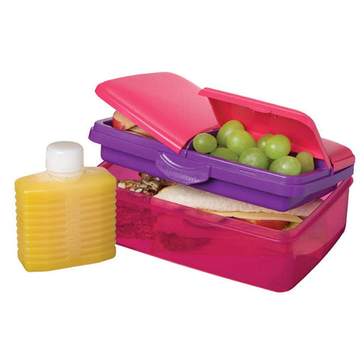 Sistema Slimline Quaddie Coloured Lunch Box 1.5L Pink - Talabac