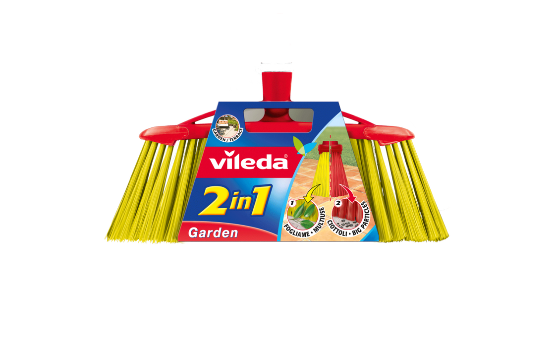 Vileda 2in1 Garden broom 30cm - Talabac