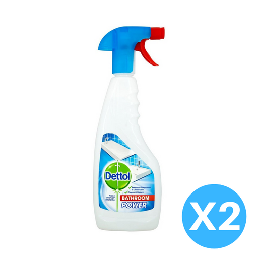 Dettol Bathroom Power Spray 440ml x 2 pieces (Made in Britain).