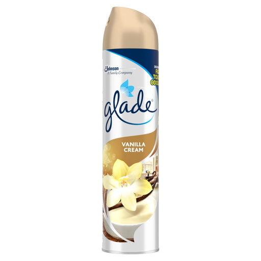 Glade Aerosol Vanilla Cream Air Freshener 300ml (Made in Britain).
