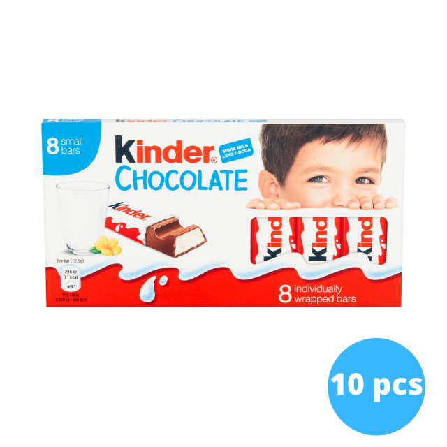 Kinder Chocolate 8 Bars x 10 pieces