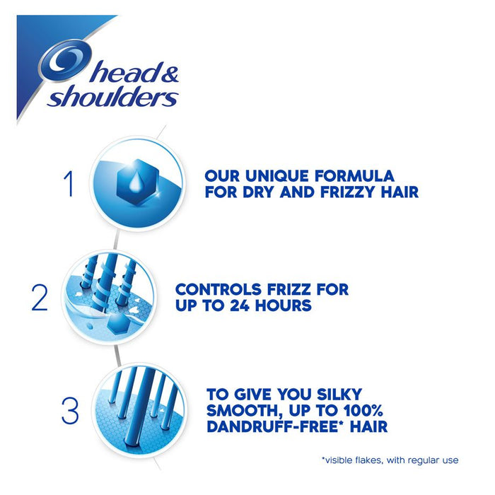 Head & Shoulders Smooth & Silky 2 In 1 Anti Dandruff Shampoo 1000ml - Talabac