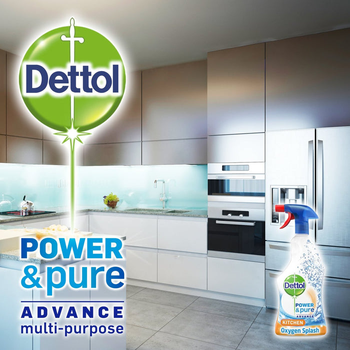 Dettol Power & Pure Kitchen Cleaner Spray 1 L (Made in Britain).