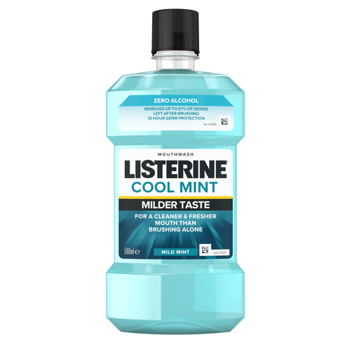 LISTERINE Cool Mint Milder Taste Mouthwash 500ml (Made in Italy)