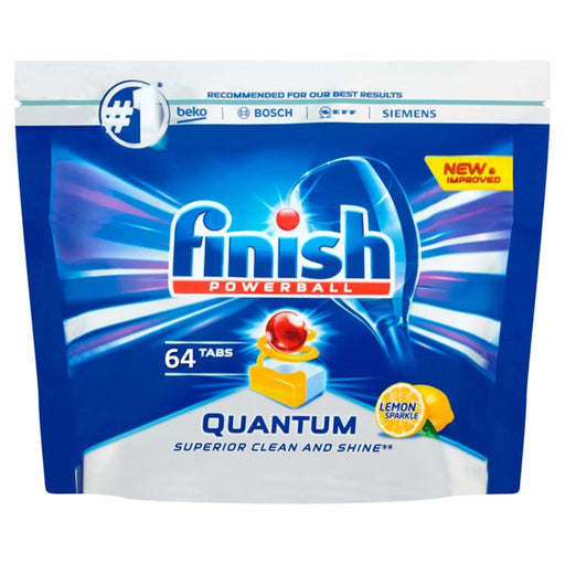 Finish Quantum Max Dishwasher Tablets Lemon Scent 64 per pack - Talabac