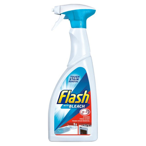 Flash Spray Cleaner 3 in 1 with Bleach 750ml (Made in Britain).