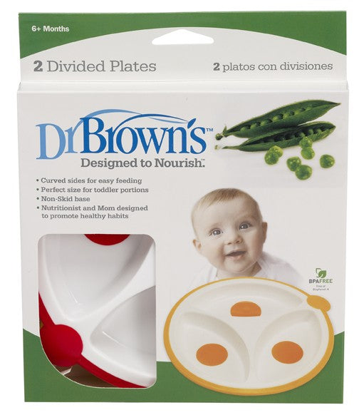 Dr. Browns Divided Plates - 2-Pack - Talabac
